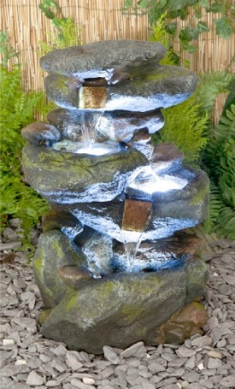 Bekko Wasserfall Beleuchteter Kaskadenbrunnen -