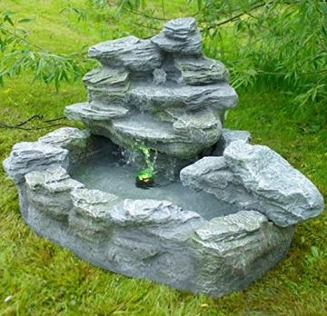 Brunnen mysteriöser Springbrunnen mit Beleuchtung Gartenbrunnen Felsenbrunnen -