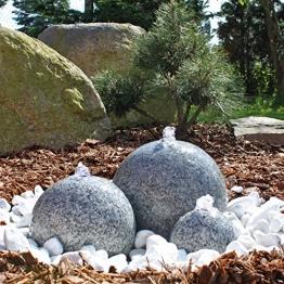 CLGarden Granit Springbrunnen SB1 - 3 teiliger Kugel Brunen Granitbrunnen Komplett-Set Garten Wasserspiel -