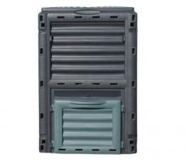 Dehner Gute Wahl Thermo Komposter 300 Liter, ca. 80 x 65 x 65 cm, Kunststoff, schwarz/grün -
