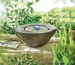 Gartenbrunnen Nero - Quellstein Brunnen - Beleuchtet - Polyresin - ca. B30 x T24 x H12 cm -