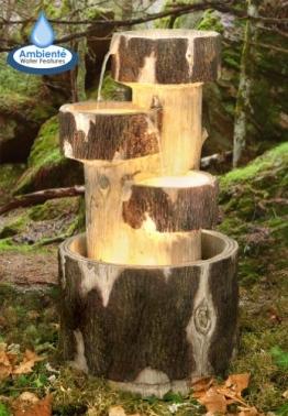 Holzklötze Kaskadenbrunnen mit Beleuchtung -
