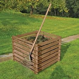 Holzkomposter 90 x 90 cm mit Holz-Stecksystem von Gartenpirat® -