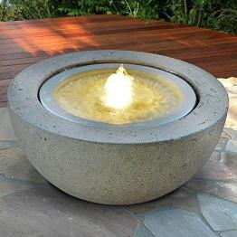 """Interline Garten/Terrassen Brunnen """"Half Ball LED"""", weiß -"""