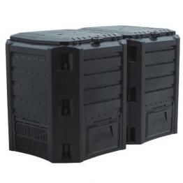 Komposter in schwarz - 800 Liter -