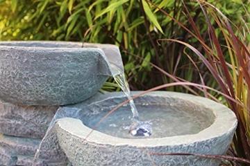 Springbrunnen Cascades mit LED-Beleuchtung Gartenbrunnen Zimmerbrunnen -