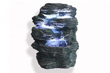 """Springbrunnen """"Niagara"""" mit LED Beleuchtung IN-&OUTDOOR Zimmerbrunnen Gartenbrunnen Luftbefeuchter -"""