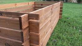 Stabiler Holzkomposter Komposter Kompostbehälter imprägniert Hochbeet 170 x 85cm -