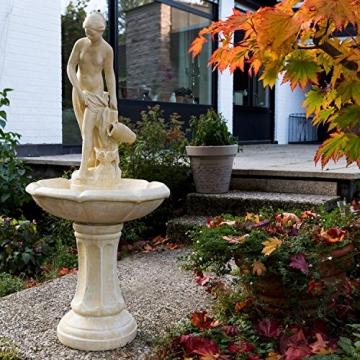 STILISTA® Gartenbrunnen Modell APHRODITE, 55 x 55 x 118 cm, inkl. Pumpe -