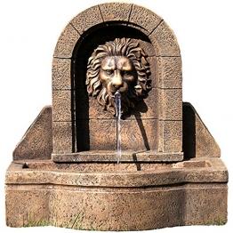 """STILISTA® Gartenbrunnen Modell """"LEON"""" mit Löwenkopf, 50 x 54 x 29 cm, inkl. Pumpe -"""