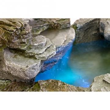 STILISTA® Mystischer Steinoptik Gartenbrunnen OLYMP, 100x80x60, inkl. Pumpe, Beleuchtung rot blau gelb grün -