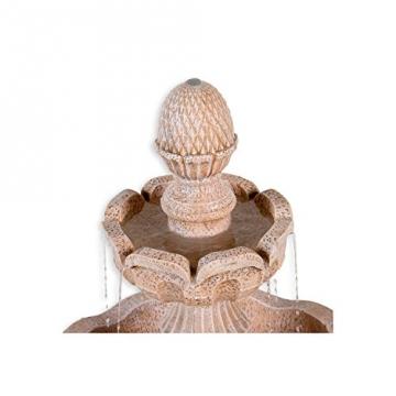 STILISTA® Steinoptik Gartenbrunnen Modell METIS, 58 x 58 x 102 cm, inkl. Pumpe -