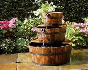Ubbink AcquaArte Edinburgh Gartenbrunnen Set Springbrunnen Holzfass -