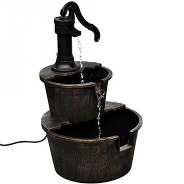 vidaXL Springbrunnen Wasserspiel Gartenbrunnen Stufenbrunnen Brunnen +Pumpe 40539 -