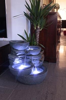 Zimmerbrunnen mit LED Beleuchtung Innen und Außen Springbrunnen Gartenbrunnen -