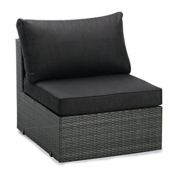 BEST 98896053 Loungegruppe 6-teilig Lounge-Set Aruba, anthrazit / grau -
