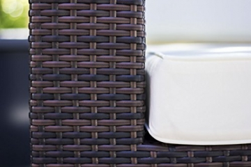 essella Polyrattan Garnitur Key West in Bicolor-Braun -