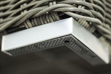 essella Polyrattan Garnitur Monaco in Grau mit 5mm Rundgeflecht -