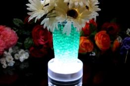 Leuchtsockel LED für Glasblock Deko Kristall Hochzeit Vasen - Ultraheller Weiß LED Licht mit 15 LEDs von PK Green -