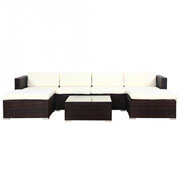 POLY RATTAN Lounge Gartenset Sofa Garnitur Polyrattan Gartenmöbel (XL, Braun) -