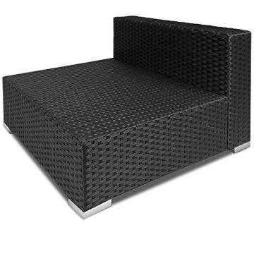 Poly Rattan Lounge Set Creme Schwarz XXL ✔ 5cm dicke Rückenkissen ✔ Einzelelemente flexibel kombinierbar ✔ UV-beständiges Polyrattan ✔ Sitzgarnitur Couch Sitzgruppe ✔ Modellauswahl -