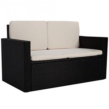 Polyrattan Gartenmöbel Sitzgruppe Relax Comfort für 2 Personen -