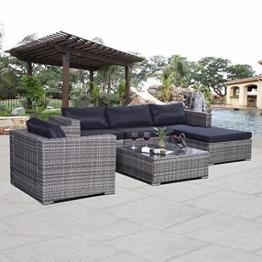 SSITG Polyrattan Gartenmöbel Rattan Set Sitzgruppe Lounge Rattanmöbel Garnitur Garten -