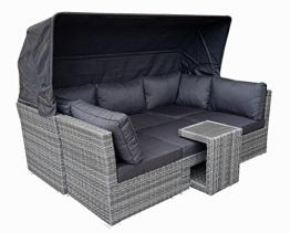 Strandkorb Lounge Palma Cabrio Sofa Alu Geflecht 5tlg. grey -