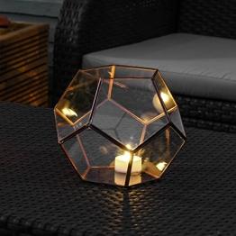 Vase Mini Gewächshaus Terrarium aus Glas und Metall Farbe Kupfer 15,8cm von Festive Lights -