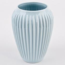 Vase Vertigo Stripes Design Porzellan blau Gefäß (19x14x14cm) -