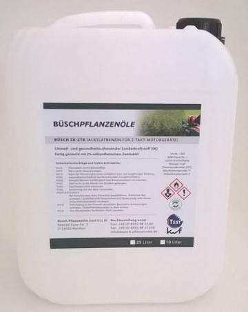 BÜSCH SK-2TK Alkylatbenzin für 2-Takt-Motorgeräte - Sonderkraftstoff (SK) mit kwf-Prüfzeichen - 5 Liter -