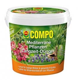 COMPO Mediterrane Pflanzen Langzeit-Dünger, hochwertiger Spezial-Langzeitdünger, reich an Spurenelementen, 1,5 kg -
