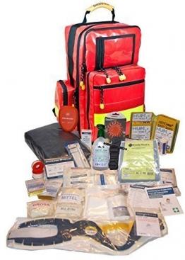 Erste Hilfe Notfallrucksack aus Plane für Baumarbeiten & Industrie mit Powerflarewarnleuchte -