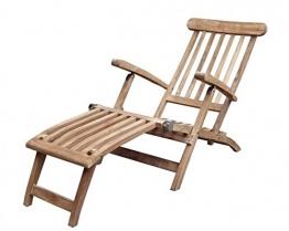Deckchair 2942 148x60x97cm Teakholz selected Kernholz unbehandelt zusammengebaut - 1