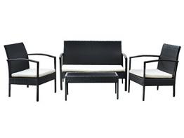 Gartenmöbel Polyrattan Sofa Garnitur Sitzgruppe Gartenmöbel Lounge Gartenset Tisch #5606 - 1
