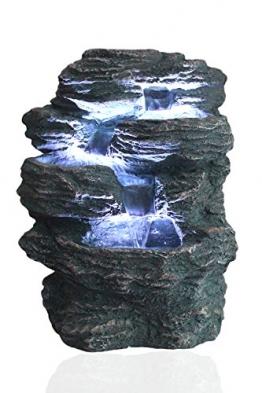 """Springbrunnen """"Niagara"""" mit LED Beleuchtung IN-&OUTDOOR Zimmerbrunnen Gartenbrunnen Luftbefeuchter - 1"""