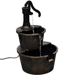 vidaXL Kaskadenbrunnen im Handwasserpumpe-Design Wasserspiel Brunnen + Pumpe - 1