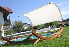 XXL Sonnenliege Doppelliege Gartenliege Hängematte Doppel Liege Gartenmöbel extrabreit für 2 Personen Modell SAONA von AS-S - 1