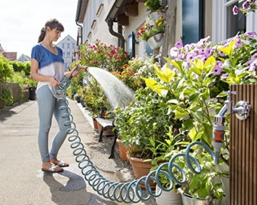 gardena city gardening terrassenschlauch 10 m spiralschlauch ideal f r balkon terrasse. Black Bedroom Furniture Sets. Home Design Ideas