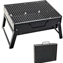 Sunjas BBQ Holzkohlegrill Reisegrill Minigrill Tischgrill Picknick Campinggrill - 1