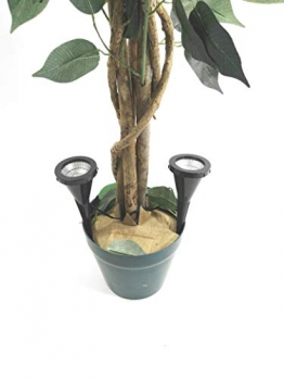 2 x LED Pflanzenstrahler Jasmin im Set Blumenstrahler mit Handschalter Zimmerpflanzenleuchte Spotlight Strahler Dekoleuchte Beleuchtung für Blumen Pflanzen - 1