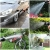 50 Fuß flexibler Gartenschlauch mit verbessertem Doppelkern Latex 3/4 Zoll & 1/2 Zoll EU-Standard-Vollmessingarmaturen knickfrei extra starkes Gewebe Wasserschlauch mit Absperrventil 8 Sprühmuster - 6