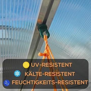 50x Gewächshausclips - Stabile Pflanzenhalter Aufhängevorrichtungen Ösen für Gewächshaus, Perfekte Rankhilfe Clips für ihr Paradies - 2