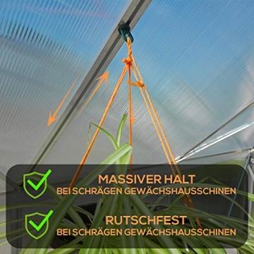 50x Gewächshausclips - Stabile Pflanzenhalter Aufhängevorrichtungen Ösen für Gewächshaus, Perfekte Rankhilfe Clips für ihr Paradies - 3