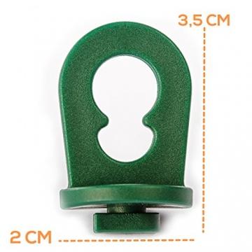 50x Gewächshausclips - Stabile Pflanzenhalter Aufhängevorrichtungen Ösen für Gewächshaus, Perfekte Rankhilfe Clips für ihr Paradies - 4