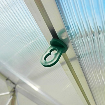 50x Gewächshausclips - Stabile Pflanzenhalter Aufhängevorrichtungen Ösen für Gewächshaus, Perfekte Rankhilfe Clips für ihr Paradies - 1