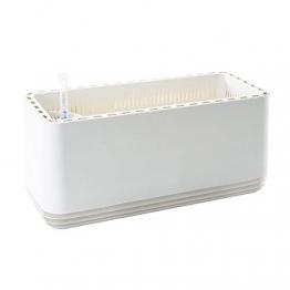 AIRY Box - Luftreiniger Blumentopf für saubere Raumluft. Patentierter Pflanzen-Topf als natürlicher Raumluftfilter, ohne Strom u. Chemie (Snow White) - 1
