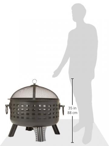 AmazonBasics Feuerstelle, Stahlgitter, 60cm - 8
