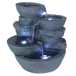 Arnusa Springbrunnen Cascades mit LED-Beleuchtung Gartenbrunnen Zimmerbrunnen - 1