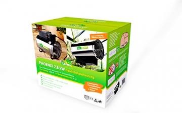 Bio Green Elektrogebläseheizung Phoenix, silber/schwarz - IP X4 Spritzwassergeschützt für Gewächshäuser - 2